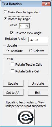 Text Rotation 2D dialog