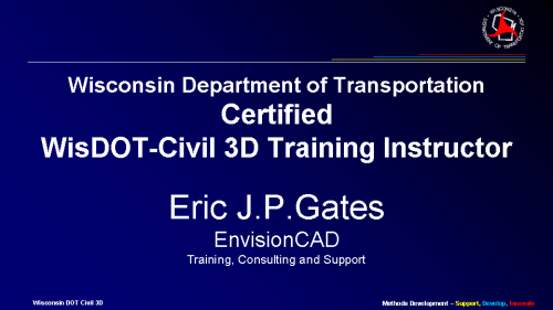 WisDOT Certified Civil 3D Training