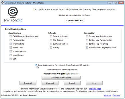 envisioncad training files installer download