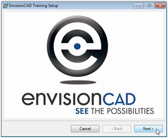 envisioncad training files setup