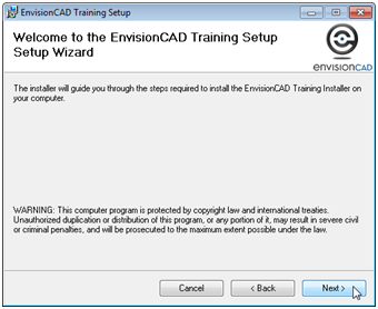 envisioncad training files wizard