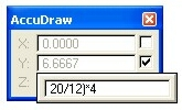 AccuDraw Popup Calculator and the use of Complex Expressions
