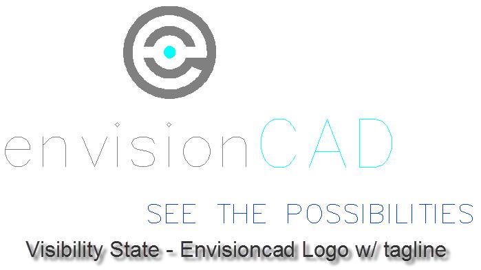 Visibility State EnvisionCAD Logo w/ tagline