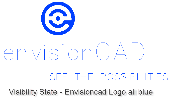 Visibility State - EnvisionCAD Logo all blue