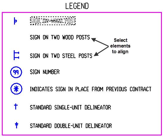 Align Elements Legend