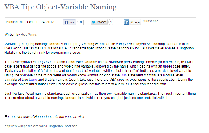 Object variable naming