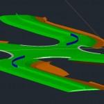 Corridor Modeled Using AutoCAD Solids