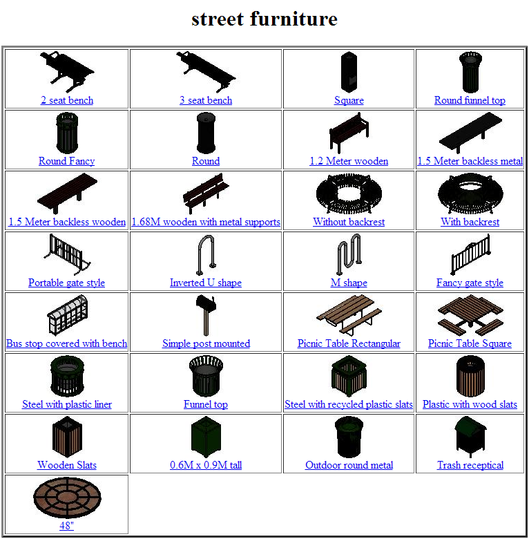 3d civil content street furniture microstation