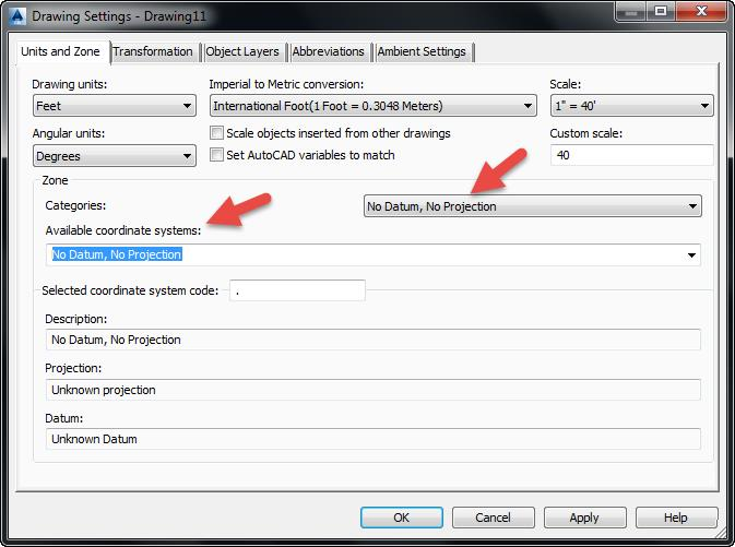 Drawing Settings AutoCAD 2014