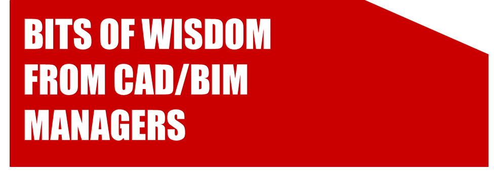 Bits of Wisdom from CAD Managers and BIM Managers