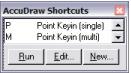 AccuDraw Shortcuts