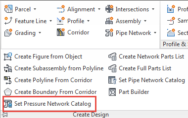 Set Pressure Network Catalog