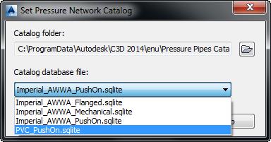 Set Pressure Network Catalog