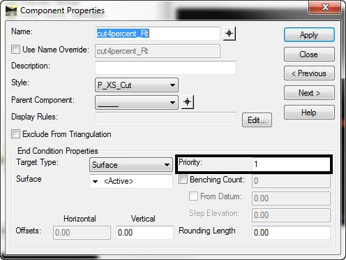 inroads component properties