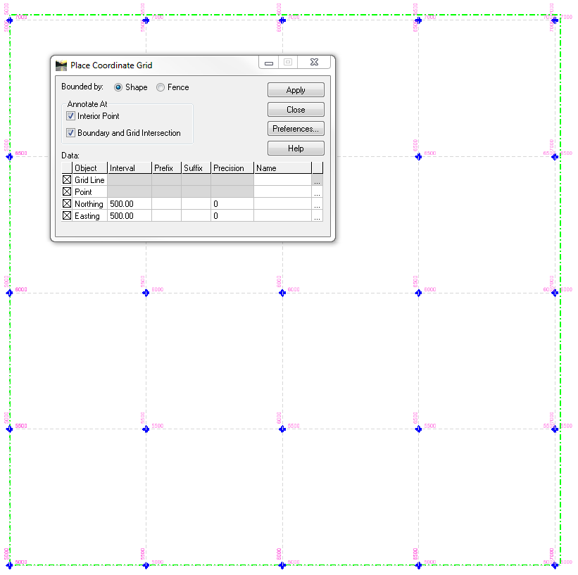 inroads place coordinate grid