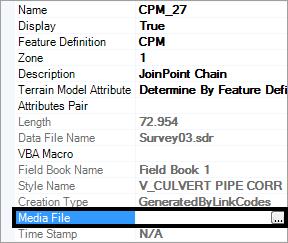 openroads-survey properties media