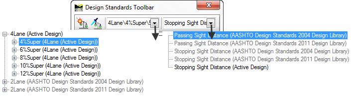 OpenRoads InRoads CIVIL_DESIGNSTANDARDSDGNLIBLIST configuration variable