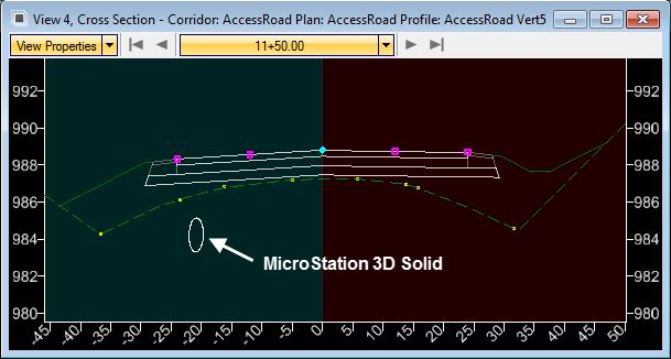 openroads survey 3d pipe mvba cross section