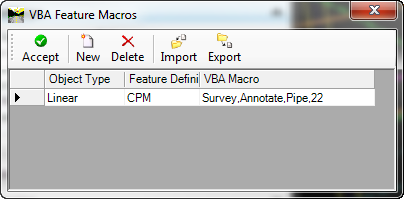 openroads survey 3d pipe mvba feature macros