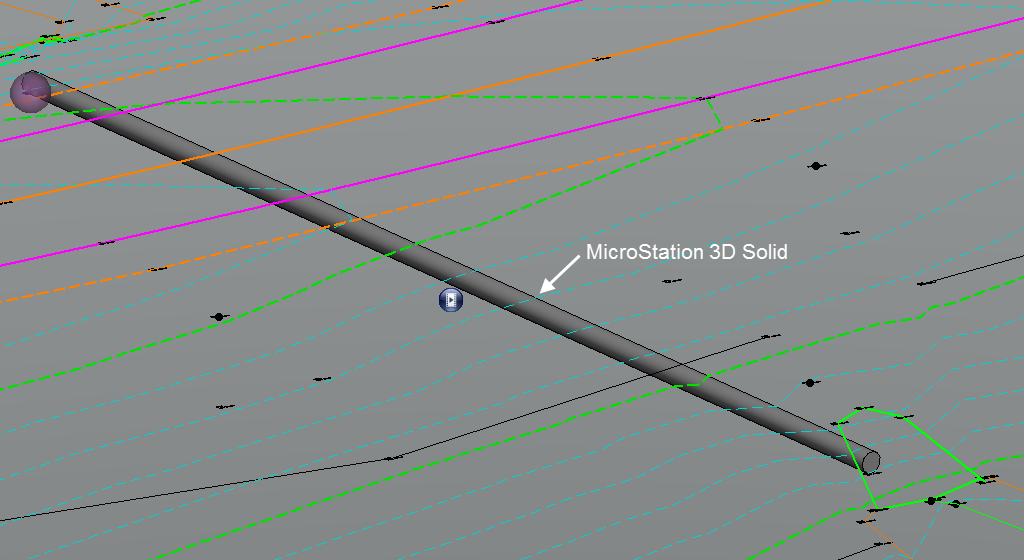 openroads survey 3d pipe mvba solid