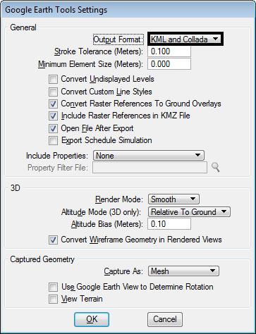 microstation google earth kml collada export rendering