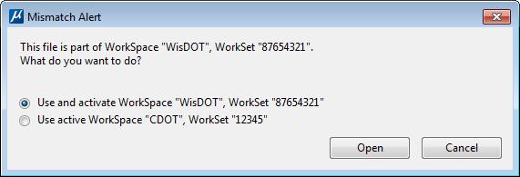 CONNECT Change Workset