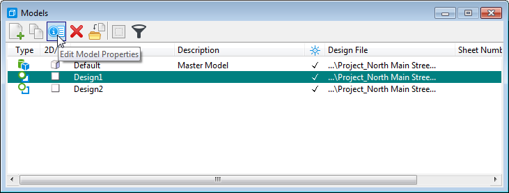 MicroStation CONNECT Edit Model Properties
