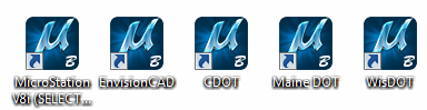 MicroStation icons