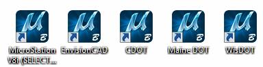 MicroStation icons
