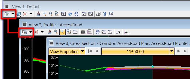 OpenRoads View Attributes: Plan, Profile, and Cross Section