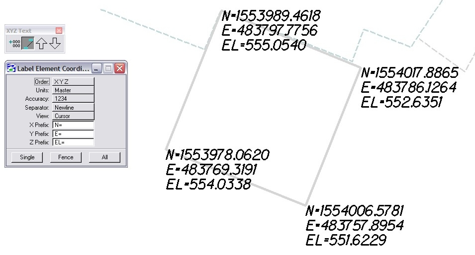 MicroStation Label Elements