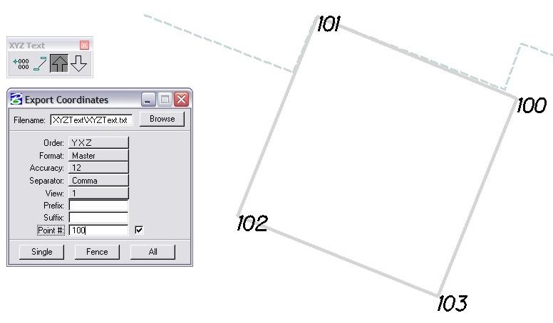 MicroStation Export Coordinates