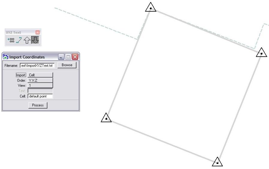 MicroStation Import Coordinates