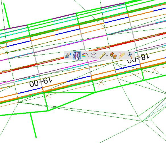 openroads mini toolbar popupinfo horizontal alignment