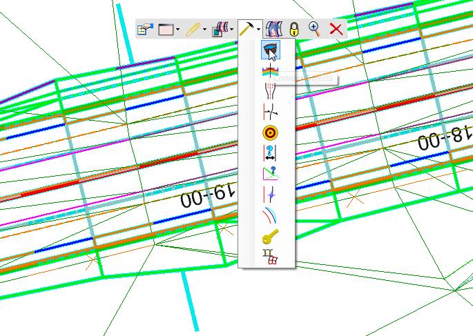openroads mini toolbar popup info corridor objects