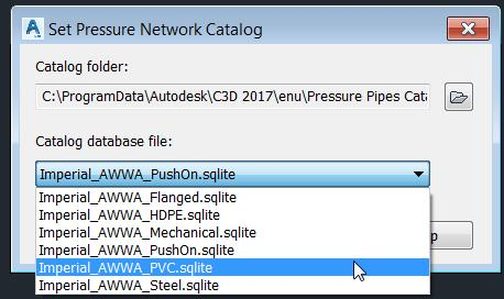 AutoCAD Civil 3D Tip: PVC, HDPE and Steel pressure pipe