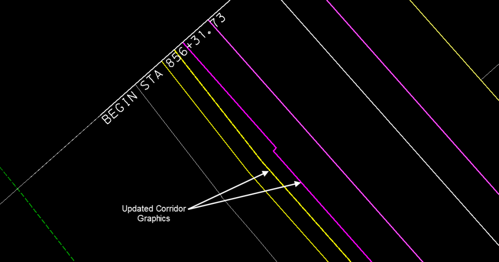 openroads corridor objects using microstation graphics