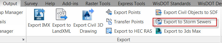 AutoCAD Civil 3D Tip pipe networks in ssa 2016 export to storm sewers
