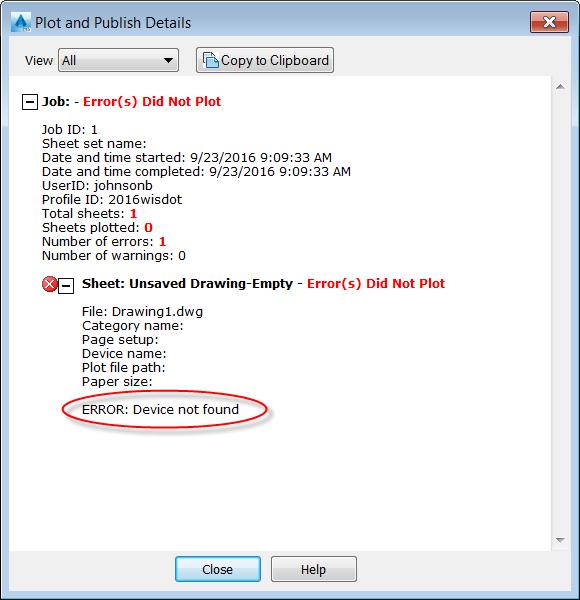 autocad-civil3d-plot-publishdevice-not-found