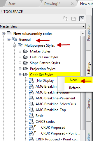 Civil 3d Settings Code Set Styles