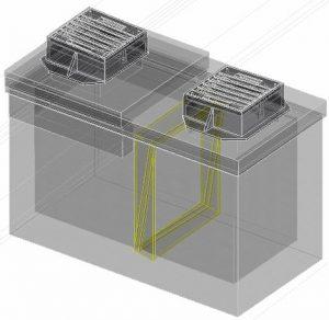 openroads suda pipelink between structures 3d model