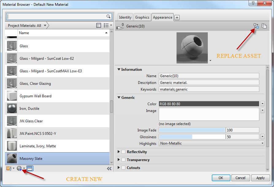 Revit Tip: Exploring the Material Browser – EnvisionCAD
