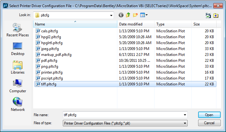 MICROSTATION TIFF DRIVERS FOR WINDOWS 8