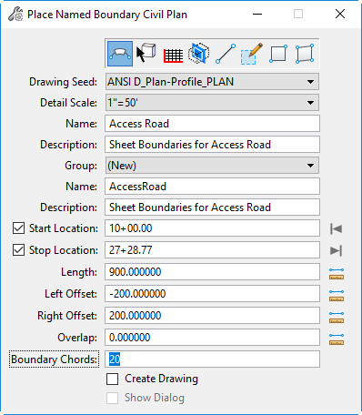 openroads designer plan boundary