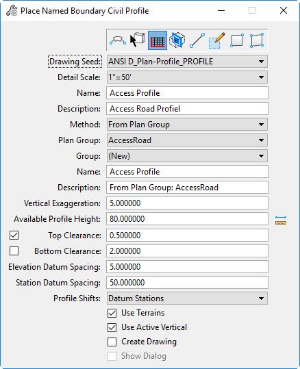 openroads designer profile boundary