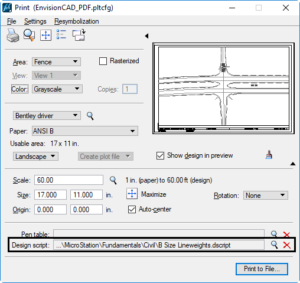 MicroStation Tip: Design Script lineweight remapping – EnvisionCAD